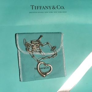 "Vintage Tiffany&Co Elsa Peretti XL Open Heart 20"""